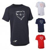 【underarmour】アンダーアーマー ジュニア用 ベースボールTシャツ SOLID 1313615