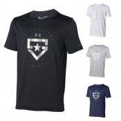 【underarmour】アンダーアーマー ジュニア用 ベースボールTシャツ テックTシャツ ヒーターロゴ 1313618