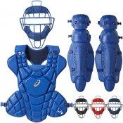 【asics】アシックス ソフトボール用 キャッチャー防具 3点セット ハイスペックモデル bpm670-bpp670-bpl660