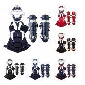 【asics】アシックス ソフトボール用 キャッチャー防具 3点セット カラーコンビネーションモデル bpm671-bpp671-bpl671