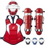 【asics】アシックス 少年ソフトボール用キャッチャー防具3点セット カラーコンビネーションモデル bpm781-bpp771-bpl771