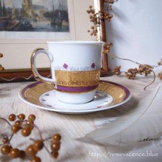 ボヘミアの可憐さと豪胆さと / Vintage Cup & Saucer from Czechoslovakia/B