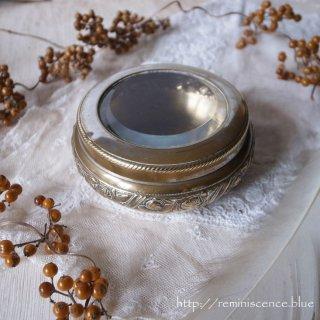 薔薇が取り囲む貴婦人のとっておき / Antique Silver Plated  Powder Jar