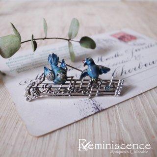 幸運の青い鳥が歌う / Vintage Brooch
