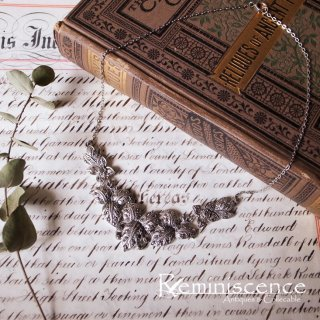 ふくよかな葉を首筋に / Vintage Marcasite Leaf Necklace