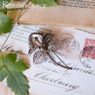 銀で編まれた美しい花 / Vintage Silver Filigree Orchid Brooch