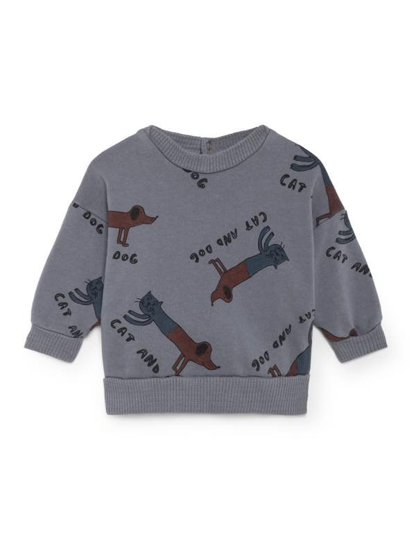 <img class='new_mark_img1' src='//img.shop-pro.jp/img/new/icons13.gif' style='border:none;display:inline;margin:0px;padding:0px;width:auto;' /> BOBO CHOSES AW18  Cats and Dogs Round Neck Sweatsh