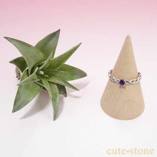 アメジストのシルバーリングの写真2 cute stone