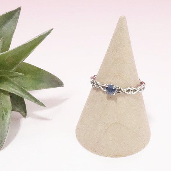 サファイアのシルバーリングの写真0 cute stone