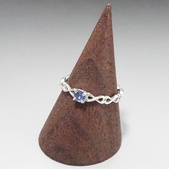 サファイアのシルバーリングの写真2 cute stone
