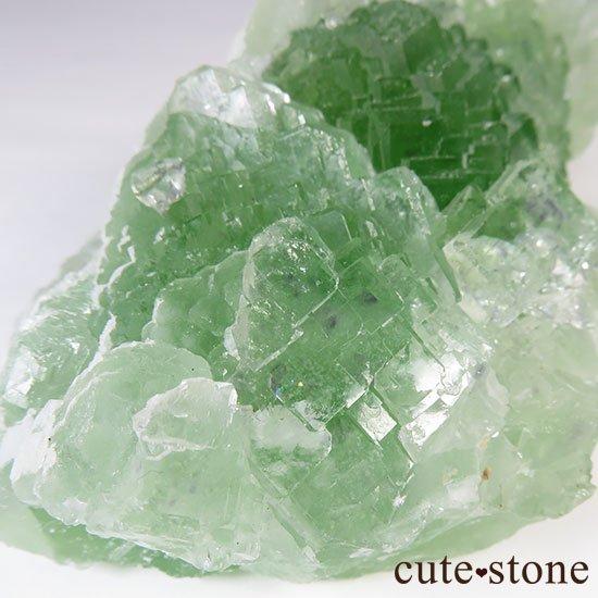 グリーンフローライト(蛍石)のクラスター(原石)の写真2 cute stone