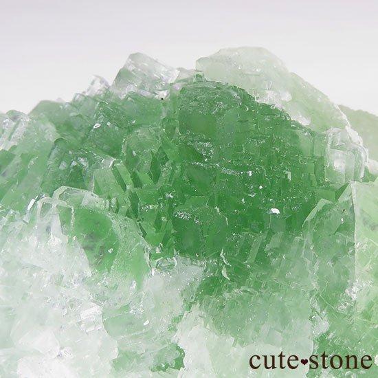 グリーンフローライト(蛍石)のクラスター(原石)の写真3 cute stone