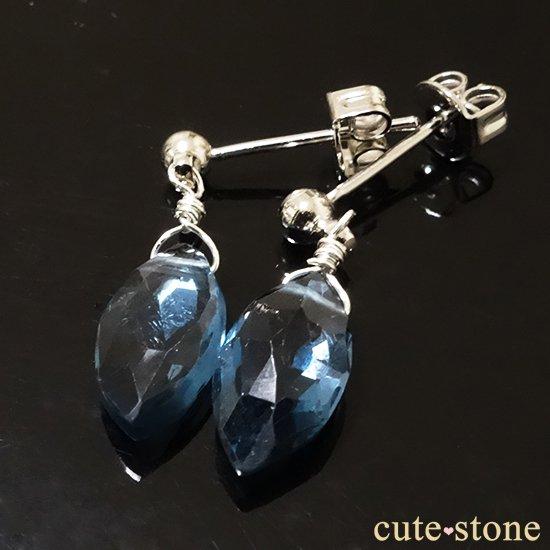 【訳あり品】ロンドンブルートパーズのピアス&イヤリングの写真1 cute stone