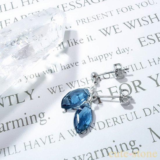 【訳あり品】ロンドンブルートパーズのピアス&イヤリングの写真2 cute stone