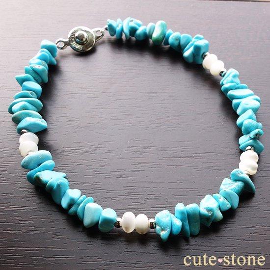 スリーピングビューティーターコイズのブレスレットの写真2 cute stone