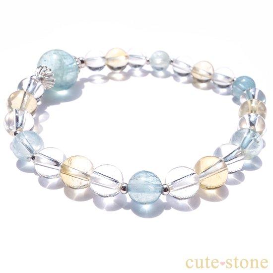 アクアマリン、シトリン、アイスクリスタルを使ったブレスレットの写真3 cute stone
