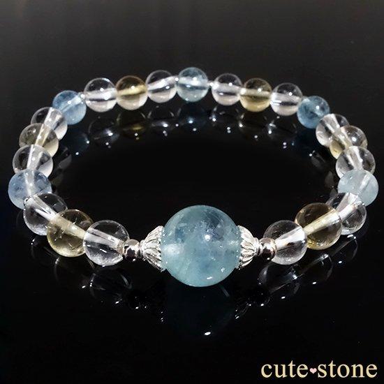 アクアマリン、シトリン、アイスクリスタルを使ったブレスレットの写真5 cute stone