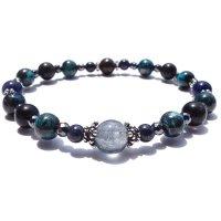 「Cosmo bracelet」ブルールチル サハラNWA869 クリソコラ スキャポライトのブレスレットの画像