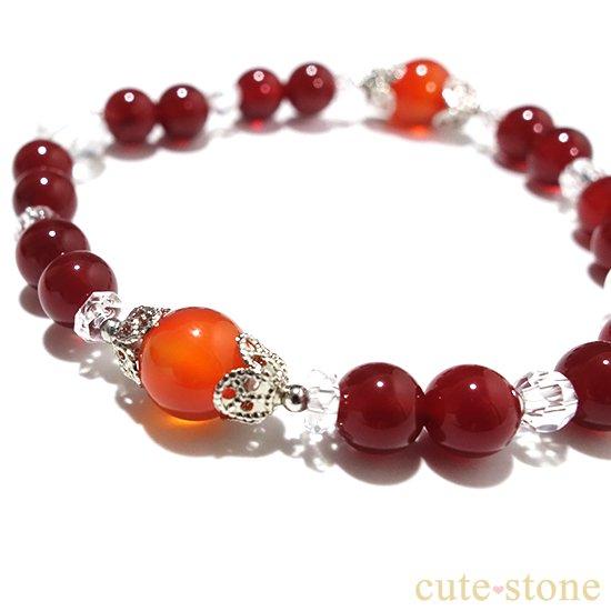 【情熱の炎】カーネリアン レッドアゲート 水晶 ブレスレットの写真0 cute stone