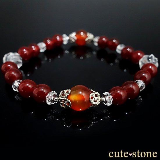 【情熱の炎】カーネリアン レッドアゲート 水晶 ブレスレットの写真2 cute stone