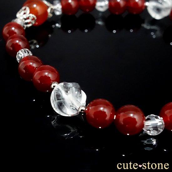 【情熱の炎】カーネリアン レッドアゲート 水晶 ブレスレットの写真3 cute stone
