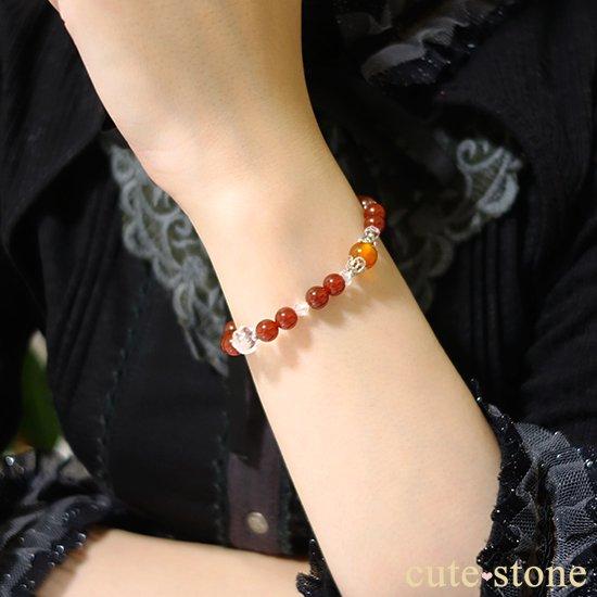 【情熱の炎】カーネリアン レッドアゲート 水晶 ブレスレットの写真5 cute stone