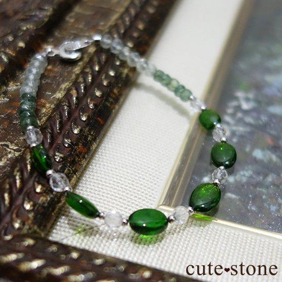 【Treasure of Dryad】クロムダイオプサイト グリーンアパタイト プレナイト 水晶 のブレスレットの写真0 cute stone