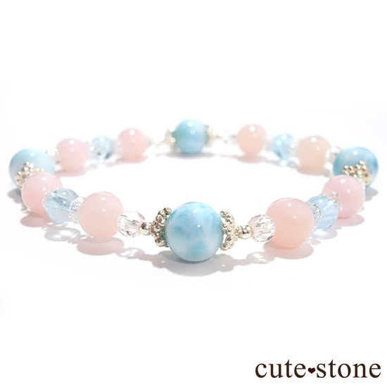 【beautiful sea】ラリマー ピンクオパール ブルートパーズ 水晶のブレスレットの写真0 cute stone