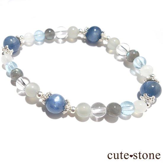 【ICE AGE】カイヤナイト ブルームーンストーン ブルートパーズ ラブラドライト アイスクリスタル グレームーンストーンのブレスレットの写真1 cute stone