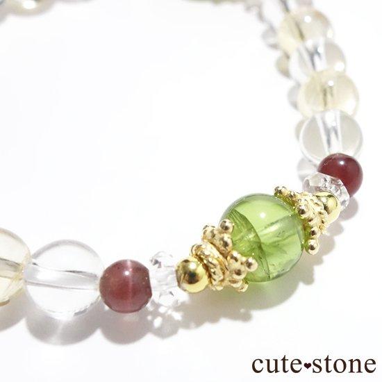 【シルフのお姫様】ペリドット レッドスキャポライト シトリン 水晶 のブレスレットの写真0 cute stone