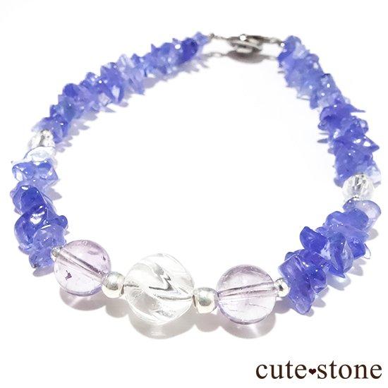 【タンザニアの空】タンザナイト バイカラーアメジスト 水晶のブレスレットの写真0 cute stone