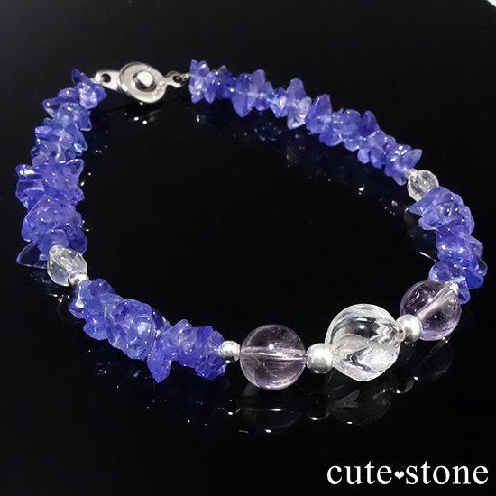 【タンザニアの空】タンザナイト バイカラーアメジスト 水晶のブレスレットの写真3 cute stone