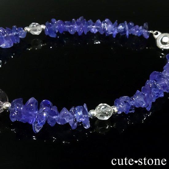 【タンザニアの空】タンザナイト バイカラーアメジスト 水晶のブレスレットの写真4 cute stone