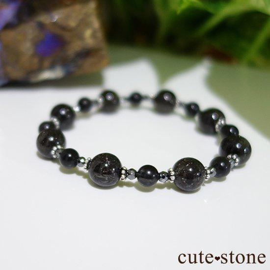 【Meteor shower】ブラックルチル ブラックスキャポライト ヘマタイトのブレスレットの写真3 cute stone