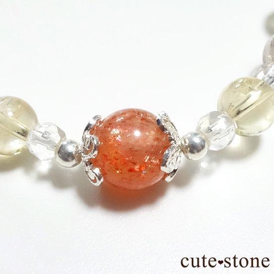 【ふたつの太陽】 サンストーン ペリドット エレスチャルクォーツ シトリン 水晶のブレスレットの写真6 cute stone