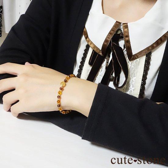 【Honey Ring】インペリアルトパーズ レッドスキャポライト シトリン バルティックアンバー のブレスレットの写真4 cute stone