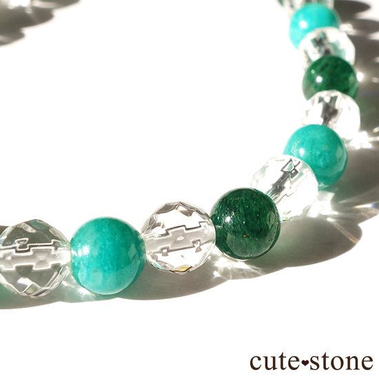 【Treasure of Dryad】ペリドット アマゾナイト グリーンアベンチュリン 水晶のブレスレットの写真0 cute stone