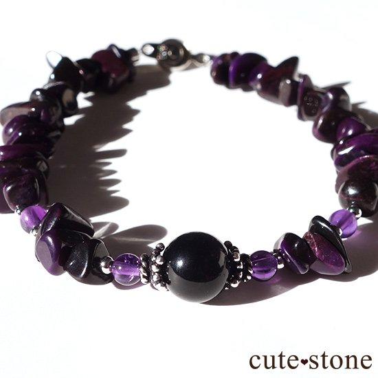 【至極色の黎明】モリオン スギライト アメジストのブレスレットの写真0 cute stone