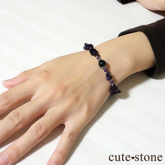 【至極色の黎明】モリオン スギライト アメジストのブレスレットの写真4 cute stone