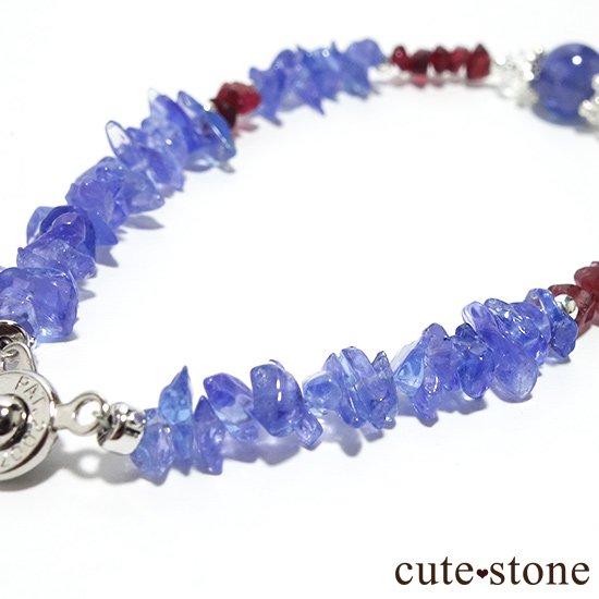 【蒼に満ちる】タンザナイト レッドスピネル 水晶を使ったブレスレットの写真3 cute stone