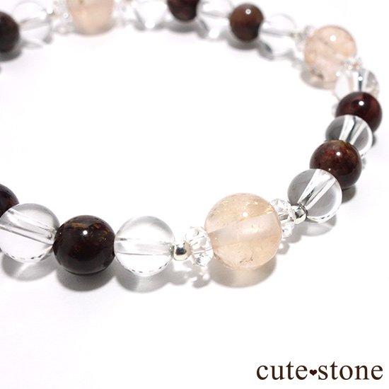 【Bitter Sweets】モルガナイト(オレンジベリル) ピーターサイト 水晶のブレスレットの写真2 cute stone