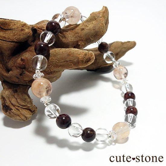 【Bitter Sweets】モルガナイト(オレンジベリル) ピーターサイト 水晶のブレスレットの写真4 cute stone