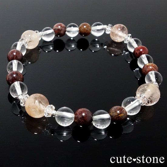 【Bitter Sweets】モルガナイト(オレンジベリル) ピーターサイト 水晶のブレスレットの写真5 cute stone