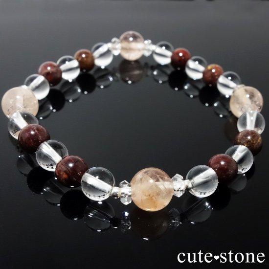 【Bitter Sweets】モルガナイト(オレンジベリル) ピーターサイト 水晶のブレスレットの写真6 cute stone