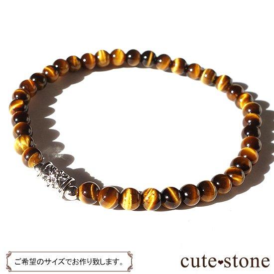 【Simple Bracelet - タイガーアイ -】タイガーアイのシンプルブレスレットの写真0 cute stone