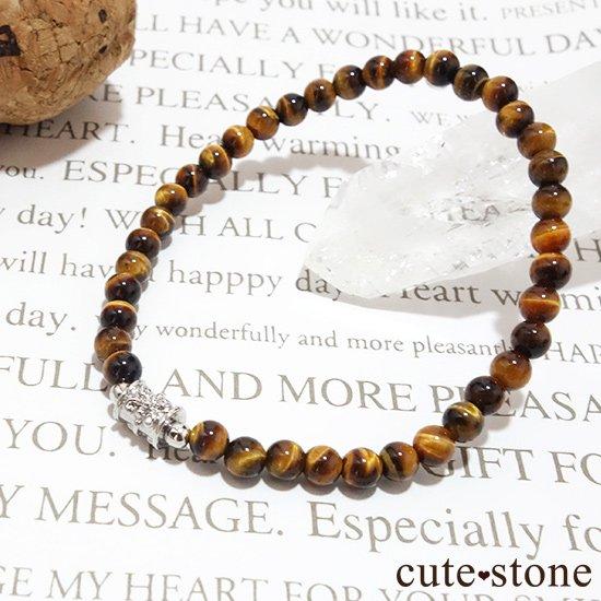 【Simple Bracelet - タイガーアイ -】タイガーアイのシンプルブレスレットの写真2 cute stone