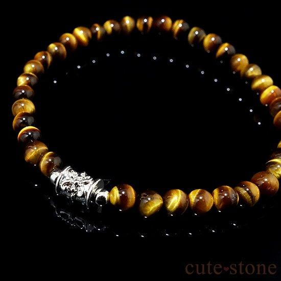 【Simple Bracelet - タイガーアイ -】タイガーアイのシンプルブレスレットの写真3 cute stone