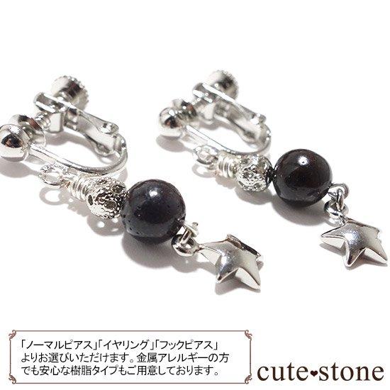 【小さな星の子】サハラNWA869(コンドライト隕石)を使ったピアス イヤリングの写真0 cute stone