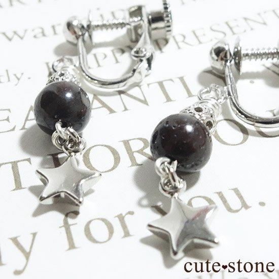【小さな星の子】サハラNWA869(コンドライト隕石)を使ったピアス イヤリングの写真2 cute stone
