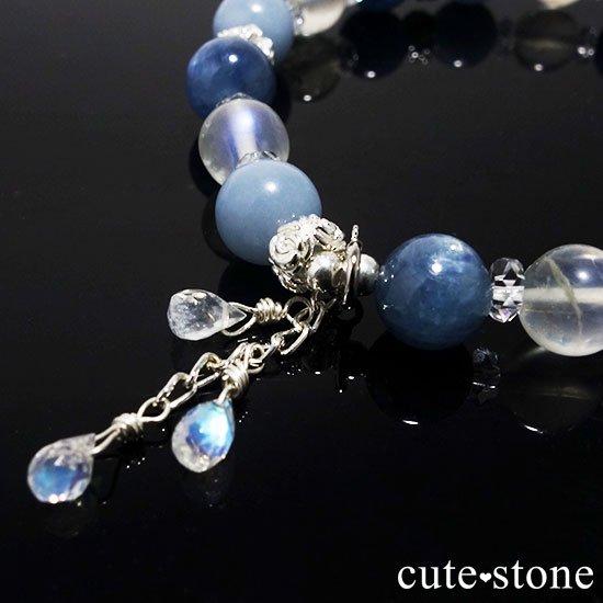 【Snow Angel】ブルームーンストーン カイヤナイト レインボームーンストーン エンジェライト 水晶のブレスレットの写真0 cute stone